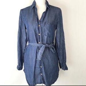 Anthropologie Cloth & Stone Denim | Chambray Dress